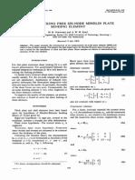 A Shear Locking Free Six-node Mindlin Plate Bending Element