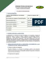 Syllabus Procedimiento y Seguridad Biológica 10mo Ciclo (Oct 2014 - Feb 2015)
