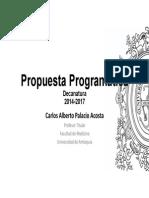 Propuesta Programática decano Carlos Palacio 2014-2017