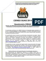 Questionario CREAS - Censo SUAS 2014