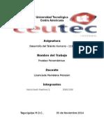 Informe Pruebas Psicometrica - Gestión Talento Humano -1 MMPI