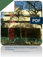 Final Placement Report 2012 SJMSOM IITB
