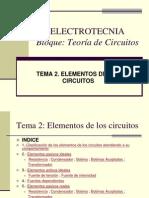 ELECTROTECNIA.Elementos de Los Circuitos