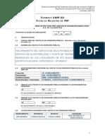 1.-Formato SNIP - pip agua potable
