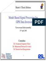 Signal Processing for GPR