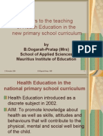 Barriers to the Teaching of Health Education In