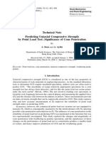 Predicting Uniaxial Compressive Strength by Point Load Test- Significance of Cone Penetration
