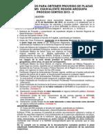 Requisitos Para La Adjudicacion de Plazas Serums Equivalente Región Arequipa