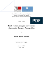 Joint Factor Analysis for Forensic Automatic Speaker Recognition