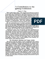 Eugene Kliug -Luther's Contribution to the Augsburg Confession