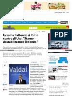 Ucraina, l'Affondo Di Putin