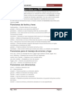 Funciones Disponibles en PHP