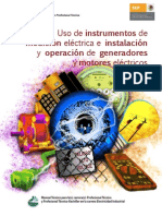 Uso De Instrumentos De Medición Eléctrica E Instalación Y Operación De Generadores Y Motores Eléctricos
