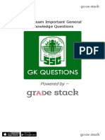 SSC Exam Important GK Questions