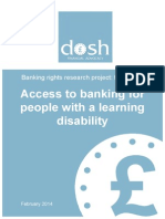 Access to Banking for People with a Learning Disability