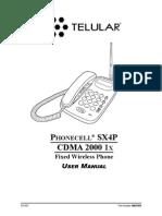 Manual Telular SX4P