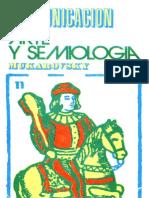 Mukarovsky - Comunicacion, Arte y Semiologia