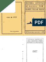 Ramón Vilar Ponte - Historia Sintética de Galicia (Incompleta)