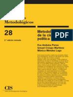 Metodología de La Ciencia Política - CIS - CUADERNOS METODOLOGICOS
