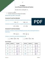 Conversions of Percents - PreAlgebraHandbook