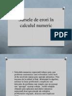 Sursele Erorilor În Calculul Numeric