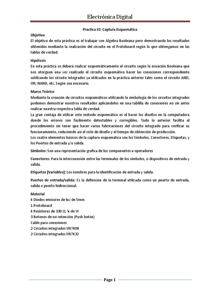Circuito And : Practica 3 digital
