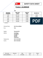 Safety Data Sheet - Aluminium