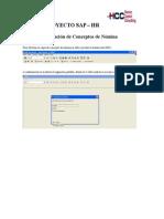 Creación de Conceptos SAP HR