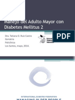 Manejo de Diabetes en El Adulto Mayor
