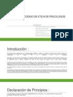 Analisis Del Codigo de Etica de Psicologos Del