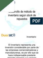 Desarrollo de Metodo de Inventario Según Stock de Rep
