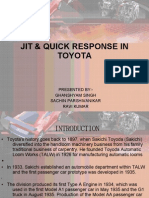 JIT & Quick Reposnse in Toyota