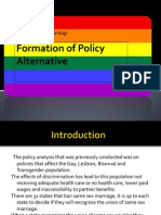 formation of policy alternative