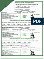LeConte Annual Fund Pledge Card