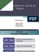Procedimientos en Juicios de Trabajo en Honduras.