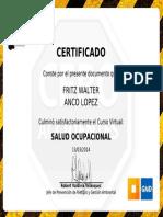 Certificado Salud Ocupacional