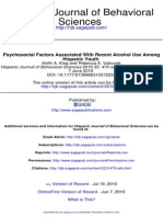 Hispanic Journal of Behavioral Sciences 2010 King 470 85