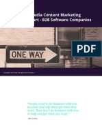 2014 Social Media Content Marketing Industry Report - B2B Software Companies