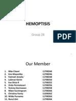 Hemoptisis Translete With Penjelasan