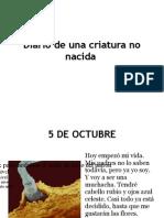 Diario de Una Criatura No Nacida