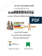 Cartell conferència CABRERA1714