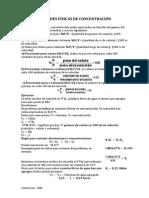 Unidades Físicas de Concentración