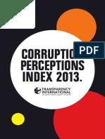 CORRUPTION PERCEPTIONS INDEX 2013