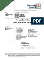 Budget Committee Addendum Agenda - November 14