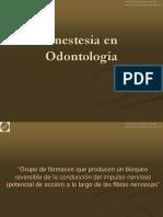 anestesia en odontologia