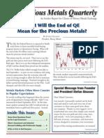 Precious Metals Quarterly