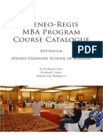 Ateneo-regis Mba Program 2010updated