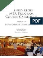 Ateneo-regis Mba Program 2010updated