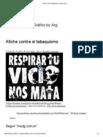 Afiche Contra El Tabaquismo _ Niudg.com