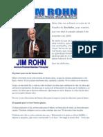 Los cuatro pasos hacia el éxito (Jim Rohn)